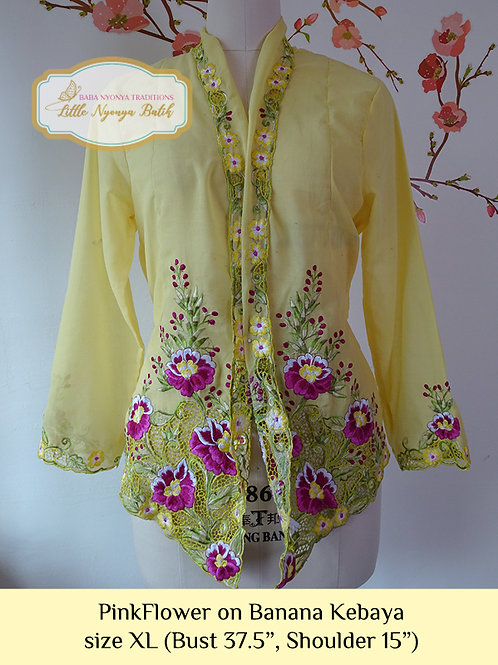 B: Pink Flower in Banana Kebaya. size XL