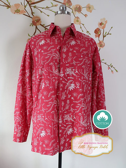 SBML: Insect Red on cotton. No Lining. size M