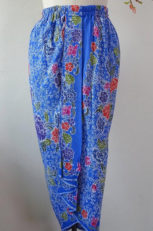 Rubberised Skirt Detail Azure Blue