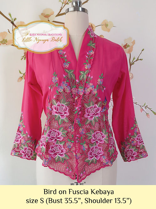 Lux: Bird on Fuscia Kebaya (S)
