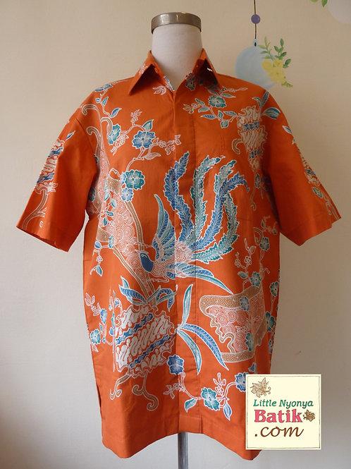 Hand-drawn Phoenix Orange. Cotton. Size XL