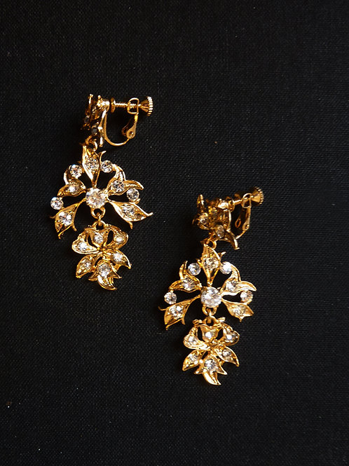 Peranakan Clip Earring Vintage Style Chandelier A