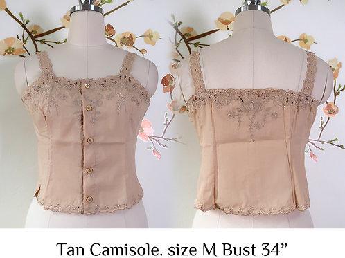 Tan Chrysanthemum Camisole size M B