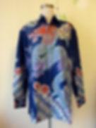 blue dragon batik silk men shirt baba singapore