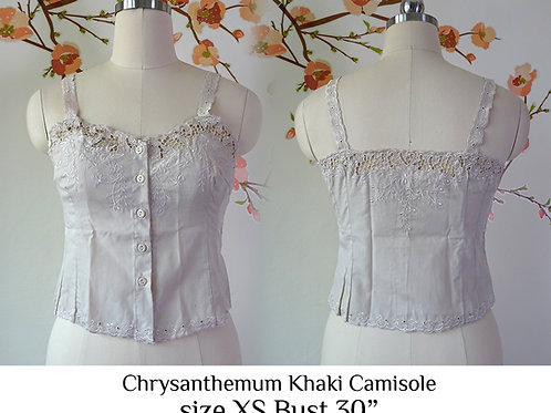Khaki Chrysanthemum Camisole size XS A