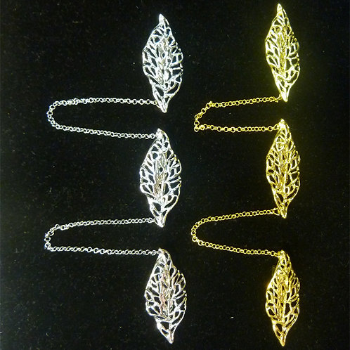 Kerosang Gold/Silver Leaves C