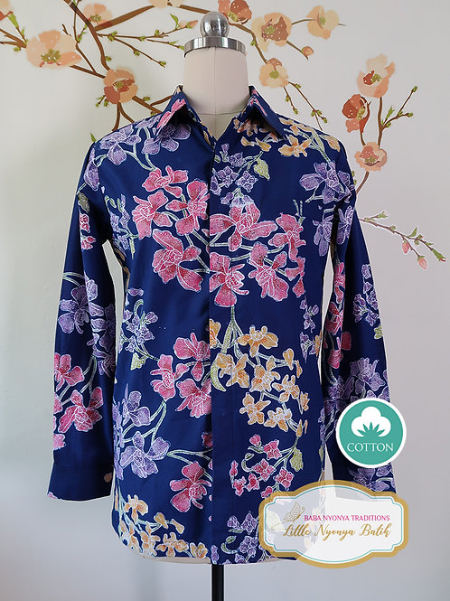 SBML: Orchid Blue on Cotton. No Lining. size S
