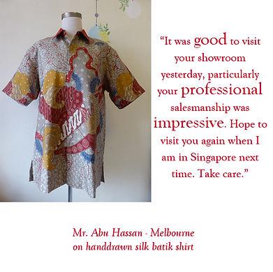 peranakan singapore baba batik shirt silk