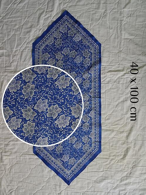 Table Runner Cobalt Blue Floral (40 x 100cm)