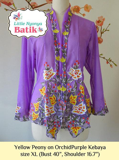 B: YelowPeony in OrchidPurple Kebaya. size XL