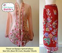 peranakan apricot nyonya kebaya red sarong batik singapore