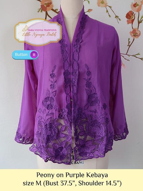 B: Peony in Purple Kebaya. size M