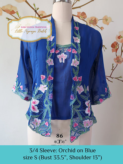 3/4 Sleeve with Camisole Blue (S)