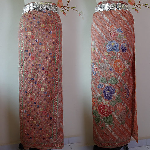 Sarong Floral Orange Silk on ATBM Baron