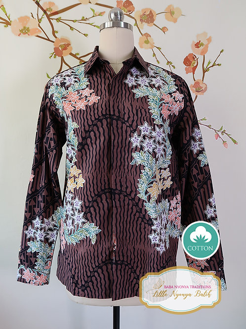 SBML: Orchid Brown Black on Cotton. No Lining. size S