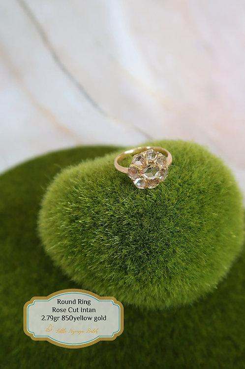 Vintage: Round ring 850 gold