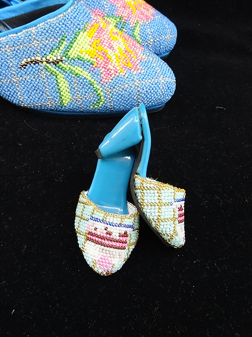 Miniature Peranakan Beaded Shoe Birthday Cake