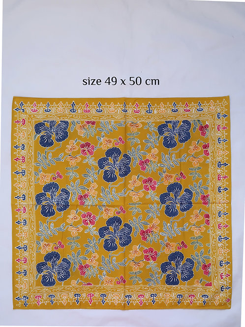 Extra Large Hankie/Napkin Yellow Big Flower