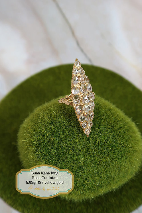 Vintage: Buah kana ring with certificate 750 gold