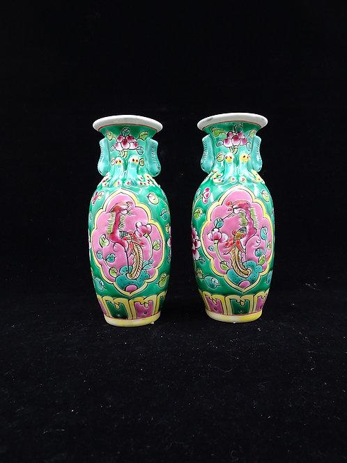 Pair of Vase Green (2pc)