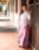 Kebaya singapore white pink batik sarong