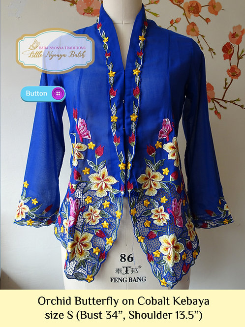 B: Orchid Butterfly in Cobalt Kebaya. size S