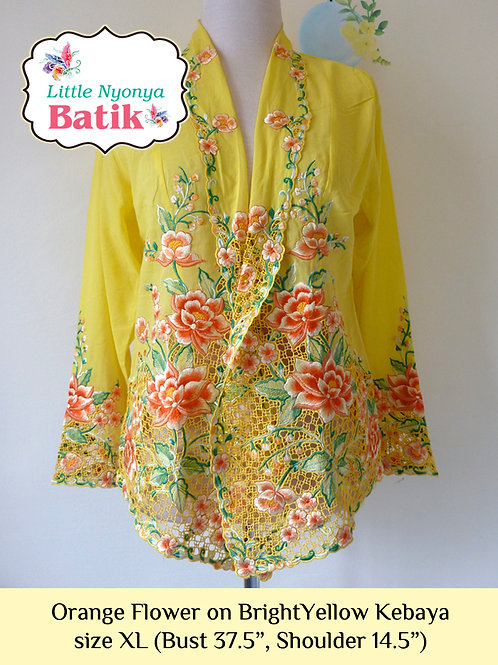 Lux: Flower on BrightYellow Kebaya (XL)