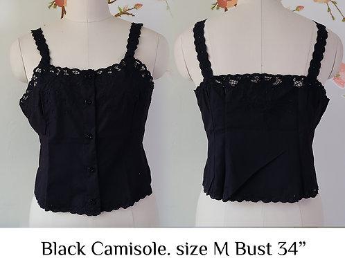 Black Chrysanthemum Camisole size M (B)