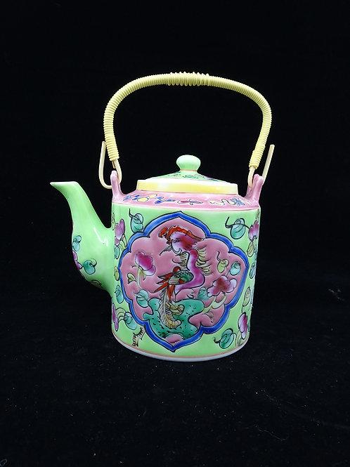 Tea Pot Phoenix Yellow & Lime (B)