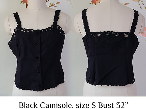 Black Chrysanthemum Camisole size S (A)