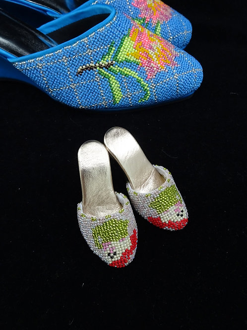 Miniature Peranakan Beaded Shoe Dwarf