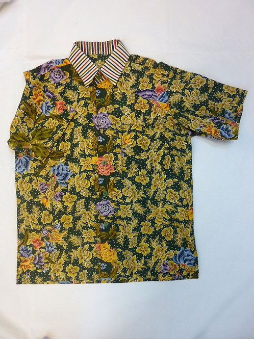 Boy Floral Green. size 19