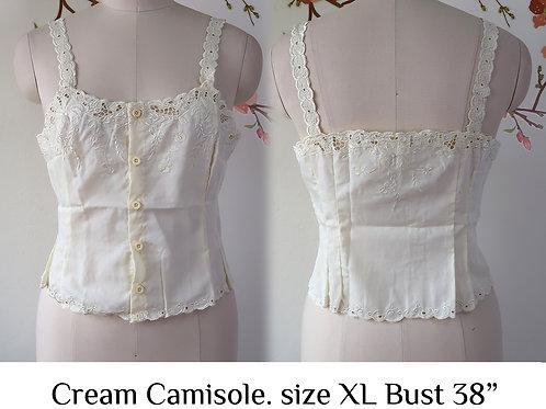 Cream Chrysanthemum Camisole size XL A