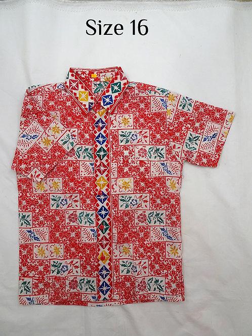 Handmade Stamp Batik Boy. size 16