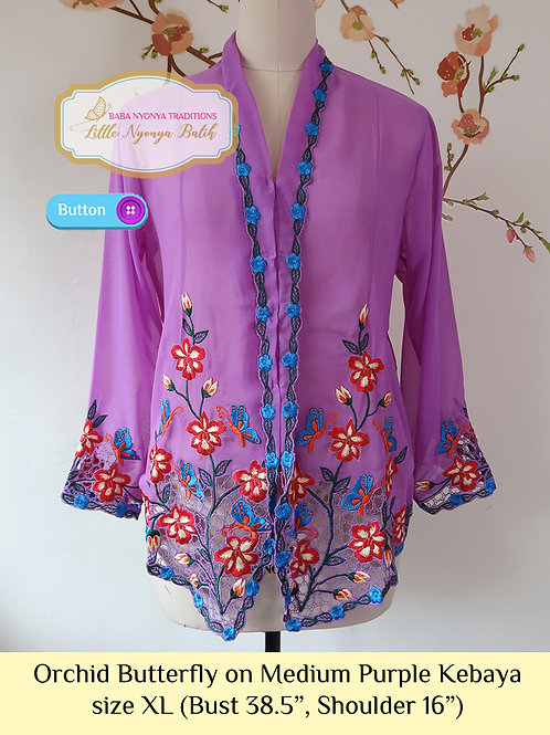 B: Orchid Butterfly in Medium Purple Kebaya. size XL