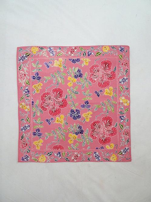 Small Hankie/Napkin Pink Flower