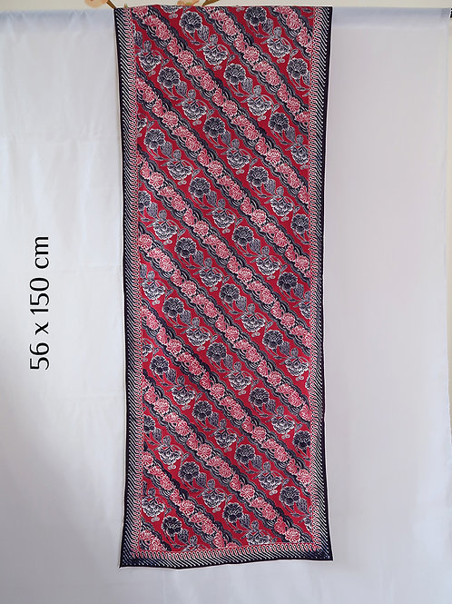 Table Runner Red Blue Floral (56 x 150cm)