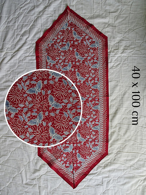 Table Runner Red Butterfly (40 x 100cm)