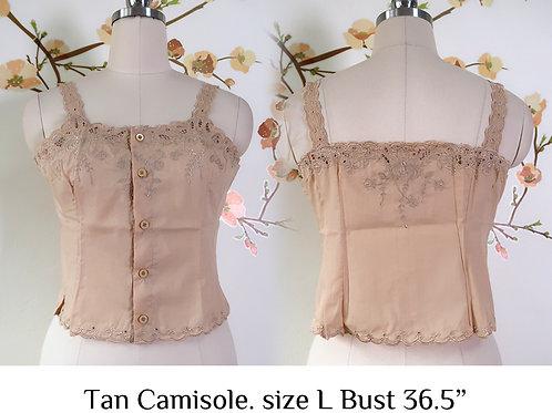 Tan Chrysanthemum Camisole size L