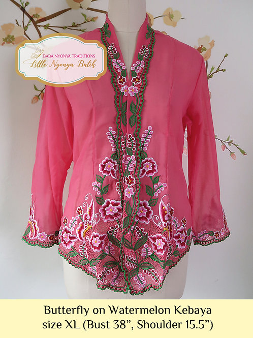 B: Butterfly in Watermelon Kebaya. size XL