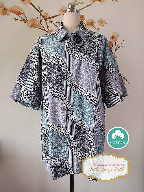 SBMS: Abstract Turquoise Cotton (3XL) no lining