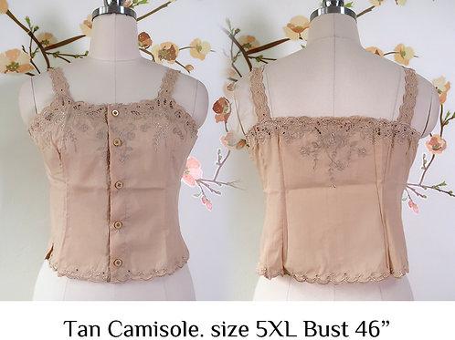 Tan Chrysanthemum Camisole size 5XL