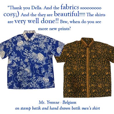 peranakan singapore baba batik shirt cotton handdrawn