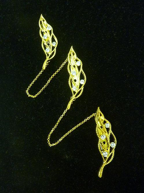 Kerosang Stone Gold Leaf