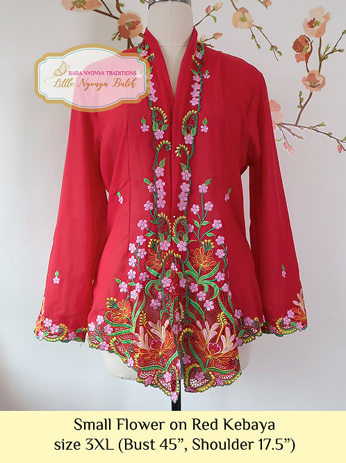 B: Small Flower in Red Kebaya. size 3XL