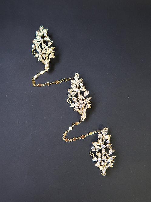 Kerosang Vintage Style Jasmine Gold