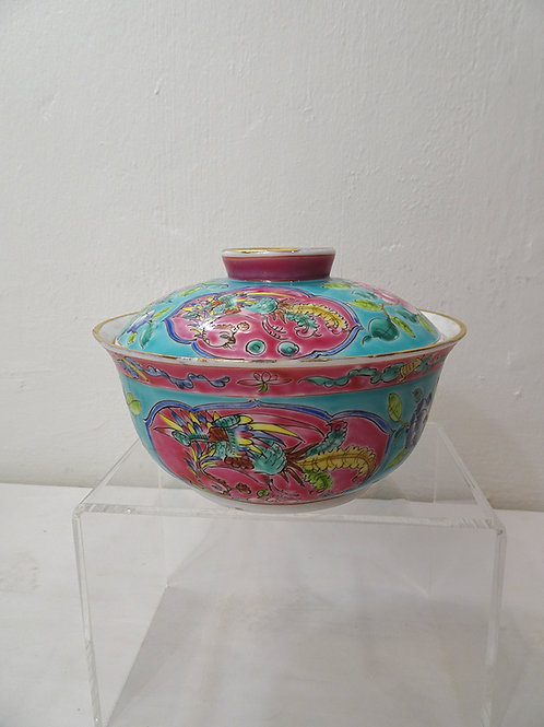 Bowl with Cover Turquoise