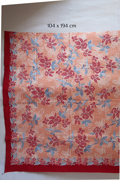 Batik Hip Wrap Orchid Salmon on Cotton