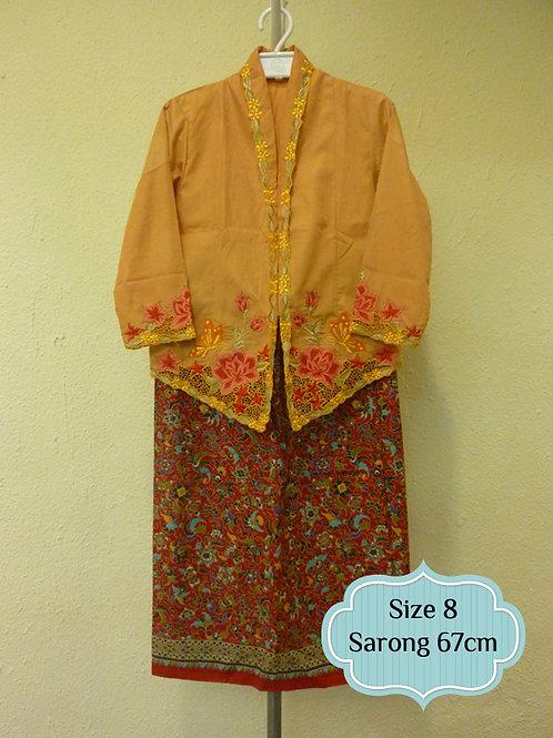 size 8  (7 yo). Cotton Butterfly on Yellow