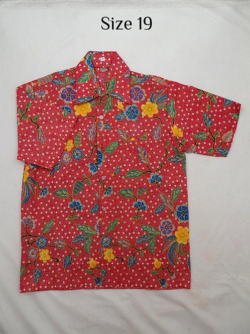 Boy Batik Shirt. size 19